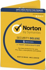 NORTON SECURITY DELUXE 3.0 1 USER 3 DEVICES 24MO ESD KEY